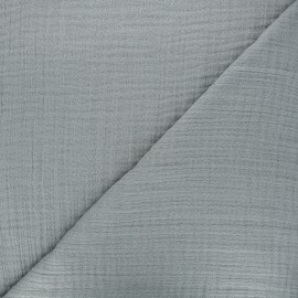 Plain bamboo triple gauze fabric - light grey x 10cm