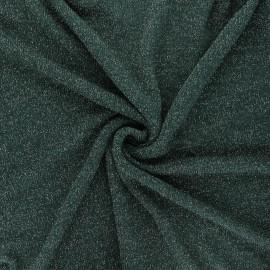 Lurex light knitted fabric - dark green Shiny x 10cm