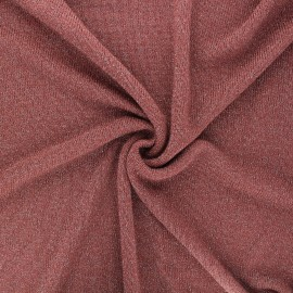 Lurex light knitted fabric - rosewood Shiny x 10cm