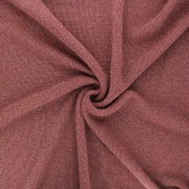 Tissu maille légère lurex Shiny - bois de rose x 10cm