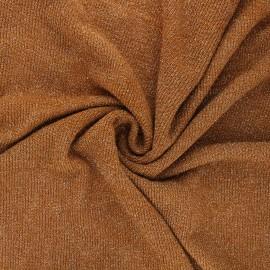 Tissu maille légère lurex Shiny - camel x 10cm