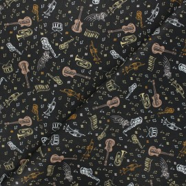 Cretonne cotton fabric - white Blues x 10cm