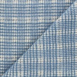 Tissu maille tricot Abby - bleu x 10cm