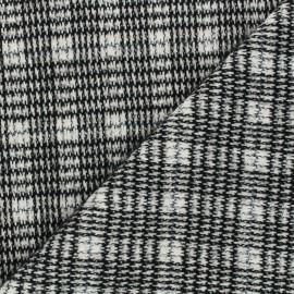 Knit fabric - black Abby x 10cm
