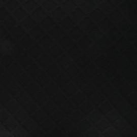 Knitted fabric - black Géo x 10cm