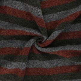 Tissu maille légère lurex Stripy - vert foncé x 10cm