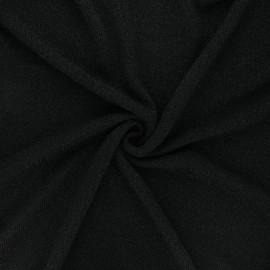 Lurex light knitted fabric - black Shiny x 10cm