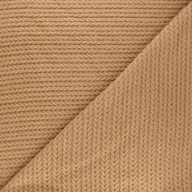 Twisted viscose knitted fabric - camel x 10cm