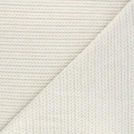 Tissu maille viscose torsade La Maison Victor - crème x 10cm