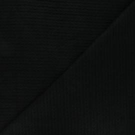 Tissu maille viscose torsade - noir x 10cm
