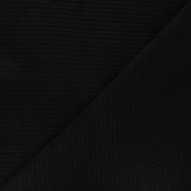 Twisted viscose knitted fabric - black x 10cm
