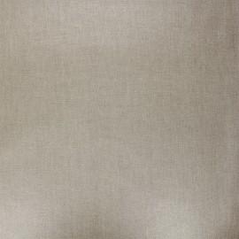 Tissu coton cretonne enduit nacré - sable x 10cm