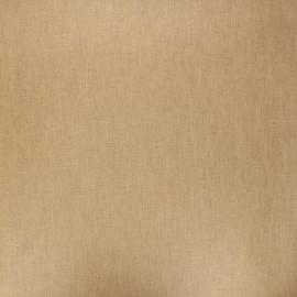 Tissu coton cretonne enduit nacré - beige x 10cm