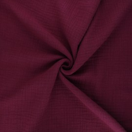Double cotton gauze fabric MPM - brick red x 10cm