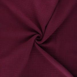 Tissu double gaze de coton MPM - rouge brique x 10cm