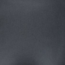 Tissu coton cretonne enduit nacré - gris anthracite x 10cm