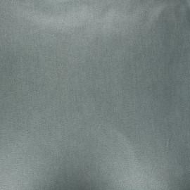 Tissu coton cretonne enduit nacré - kaki foncé x 10cm