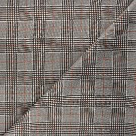 Checked Milano jersey fabric - cream Prince-de-galles x 10cm