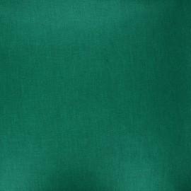Tissu coton cretonne enduit nacré - vert x 10cm