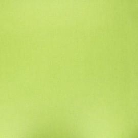 Tissu coton cretonne enduit nacré - vert anis x 10cm
