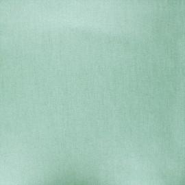 Tissu coton cretonne enduit nacré - vert sauge x 10cm