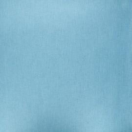 Tissu coton cretonne enduit nacré - bleu clair x 10cm