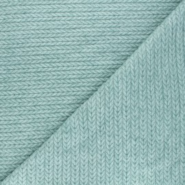 Twisted viscose knitted fabric - celadon x 10cm