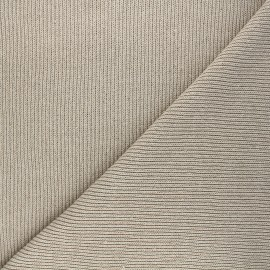 Tissu maille côtelé Jo - beige x 10 cm