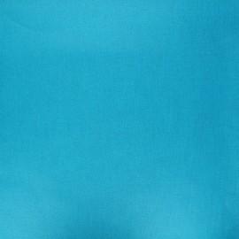 Pearly coated cretonne cotton fabric - turquoise blue x 10cm