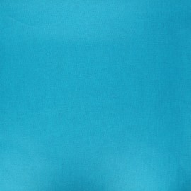 Tissu coton cretonne enduit nacré - bleu turquoise x 10cm