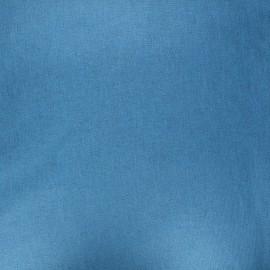 Tissu coton cretonne enduit nacré - bleu x 10cm