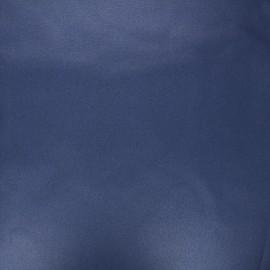 Tissu coton cretonne enduit nacré - bleu marine x 10cm