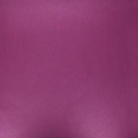 Tissu coton cretonne enduit nacré - violine x 10cm