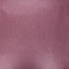 Tissu coton cretonne enduit nacré - prune x 10cm