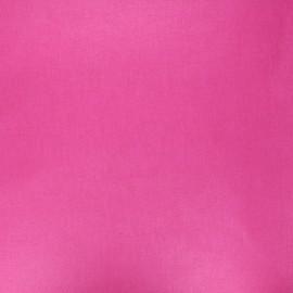 Tissu coton cretonne enduit nacré - fuchsia x 10cm
