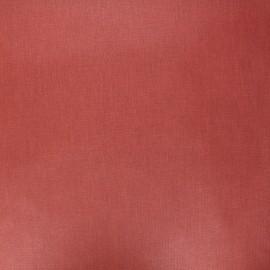 Tissu coton cretonne enduit nacré - terracotta x 10cm