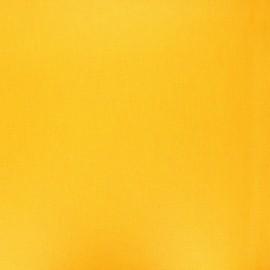 Tissu coton cretonne enduit nacré - jaune tournesol x 10cm