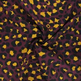 Tissu viscose Dark leo - violet x 10cm
