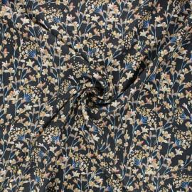 Tissu viscose lurex Creative flowers - noir x 10cm