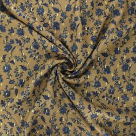 Lurex Viscose fabric - khaki green Duski x 10cm