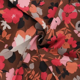 Viscose fabric - brown Milana x 10cm