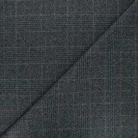 Lurex polyviscose fabric - grey Subtile square x 10cm