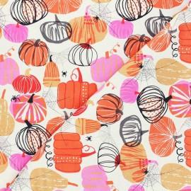Cotton Dashwood Studio fabric - Full Moon - Cream Pumpkin x 10cm