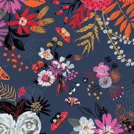 Cotton Dashwood Studio fabric - Full Moon - Black Crow x 10cm
