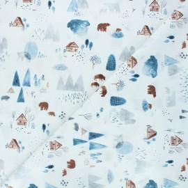 Tissu coton Dear Stella Brave enough to dream - Dreamscape - blanc x 10cm