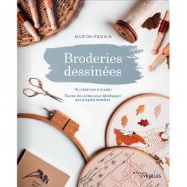 "Livre ""Broderies dessinées - 16 créations à broder"""