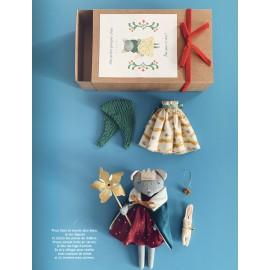 """Book """"Le monde poétique de Rose Minuscule - 18 animaux à coudre"""""""