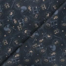 Cretonne cotton fabric - night blue Harry Potter Timeless x 10cm