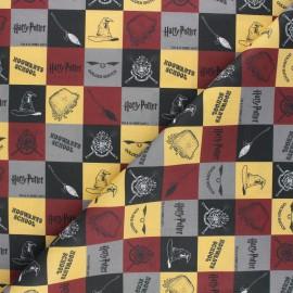 Cretonne cotton fabric - black Harry Potter RubiPotter x 10cm