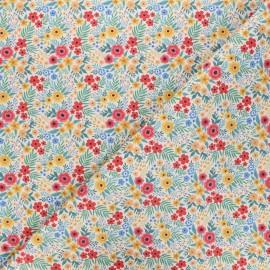 Tissu coton cretonne Marcie - beige x 10cm